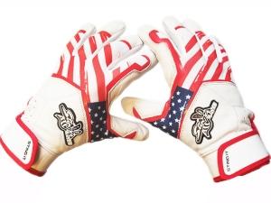 Sting Quad RWB Batting Gloves2