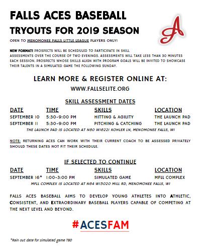 2019 tryouts info